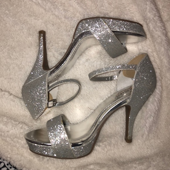 Silver Prom Heels